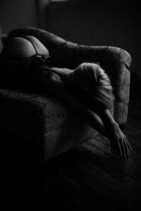 sexy black and white photo